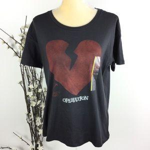 Operation Broken Heart Dark Gray T-shirt